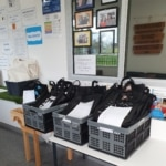 Remote learning packs ready for pick up